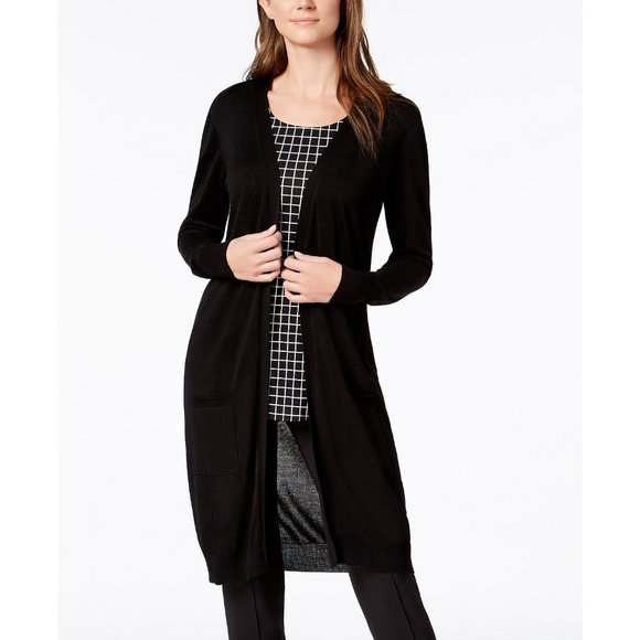 Alfani Sweaters - NWT Alfani Midi Pocket Cardigan, M